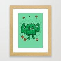 The Strongest Log of ALL Framed Art Print