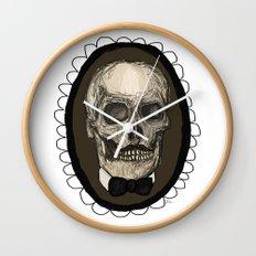 Dapper Skull  Wall Clock