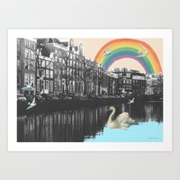 LOVE FROM AMSTERDAM!  Art Print