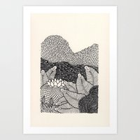 Mini Mountain  Art Print
