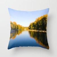 Autumn Reflections - Calgary, AB Throw Pillow