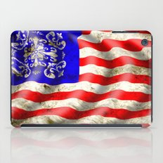 A wavy American flag iPad Case