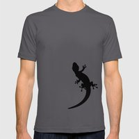 Lizard Mens Fitted Tee Asphalt SMALL