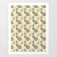 Herb Pattern Art Print