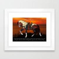 A Horses Prayer Framed Art Print