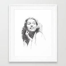Rita Hayworth Portrait Framed Art Print