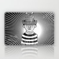 Fisher Man B/W Laptop & iPad Skin