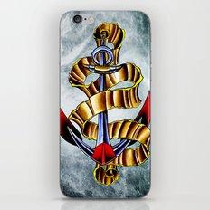 anchor w/ribbon iPhone & iPod Skin