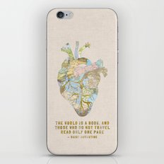 A Traveler's Heart + Quote iPhone & iPod Skin