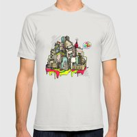 Consume Mens Fitted Tee Silver SMALL