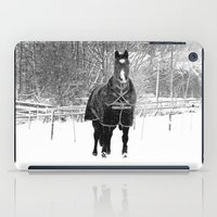 Horse In The Snow iPad Case