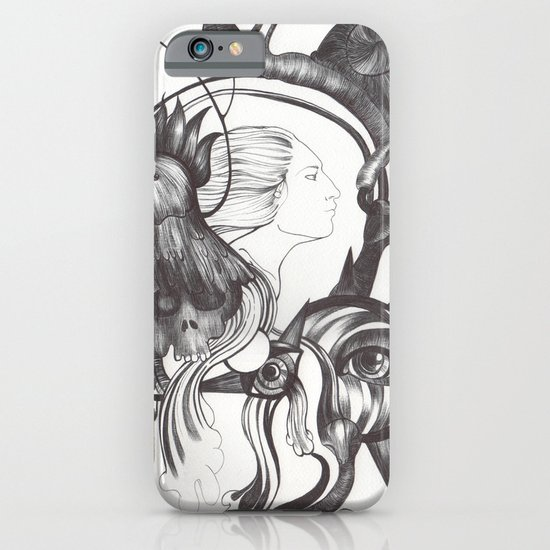 Retrato de Sirena iPhone & iPod Case