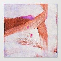 Brush Strokes Purple Ora… Canvas Print
