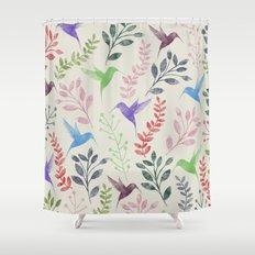 Floral & Birds II Shower Curtain