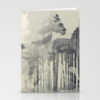 Like a Horse in the woods Stationery Cards