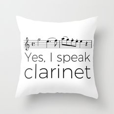 I speak clarinet Throw Pillow