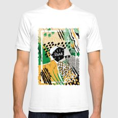 ROAR (wild cats) Mens Fitted Tee White SMALL