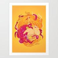 I'm On Fire Art Print