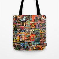 Monsters     Collage Tote Bag