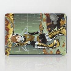 Retro Futuristic Kaiju Mash iPad Case
