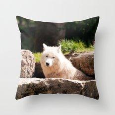 Canis Lupus Arctos Throw Pillow