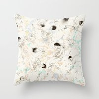 Circuitring Throw Pillow