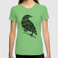 Quoth The Raven Womens Fitted Tee Grass X-LARGE