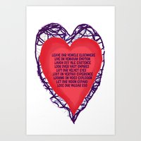 heart beat Art Print