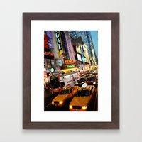 NY Cabs Framed Art Print