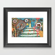 I Love Cake!  Framed Art Print