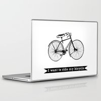 bicycle Laptop & iPad Skins featuring bicycle by Beverly LeFevre