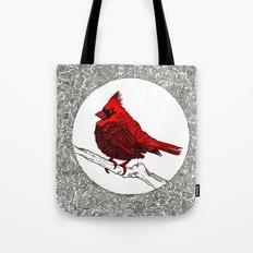 A Red Cardinal Tote Bag