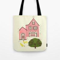 Farm House Pink Tote Bag