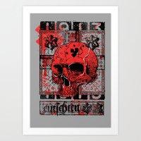 Red Skull 1913 Art Print