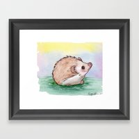 Sweet Hedgie Framed Art Print