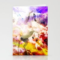 unicorn Stationery Cards featuring Unicorn  by haroulita