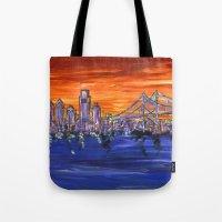 Ben Franklin Bridge Suns… Tote Bag