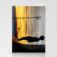 peter pan Stationery Cards featuring Peter Pan by Marco Ferraro
