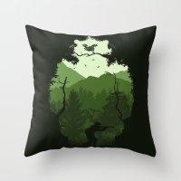 Hunting Season - Green Throw Pillow