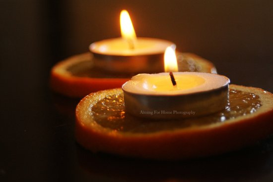 Orange Candles Art Print