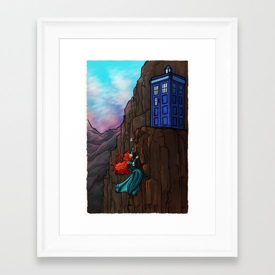 Touch the sky...and then the stars. Framed Art Print