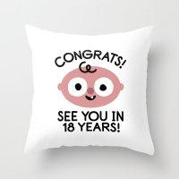 Apparently Throw Pillow