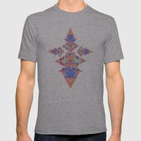 HELAKU Mens Fitted Tee Athletic Grey SMALL
