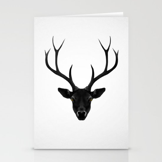 The Black Deer Stationery Card