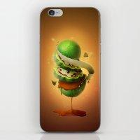 Sliced Green Wallnut iPhone & iPod Skin