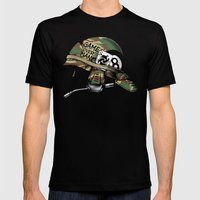 Game Over, Man! Mens Fitted Tee Black SMALL