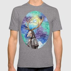 witchy moon Mens Fitted Tee Tri-Grey SMALL