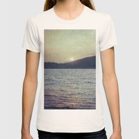 Blue Sunset Womens Fitted Tee Natural SMALL