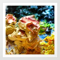 Naples Yellow Paint Glob Art Print