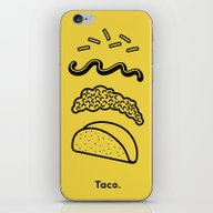 iPhone & iPod Skin featuring Taco Puzzle  by Rachel Peck